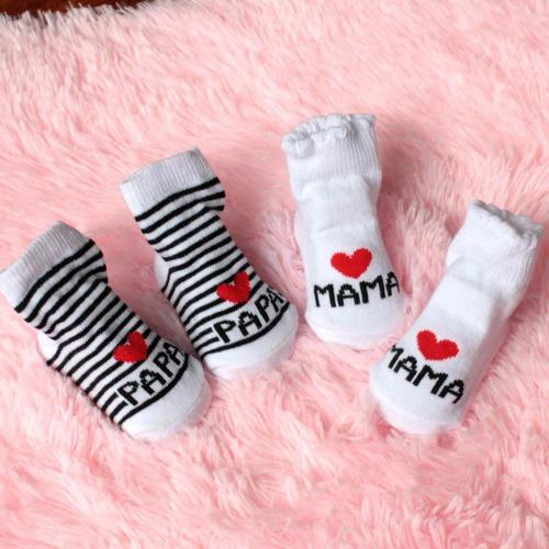 2020 New Lovely Soft Baby Socks Newborn Toddler Infant Kids Girls Boys Stripe Cotton Love Mama/Papa Socks