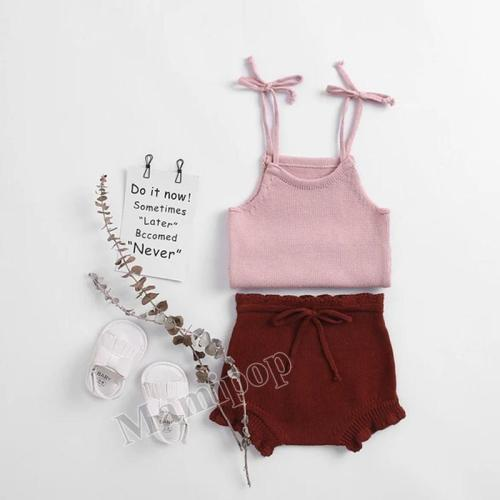 2020 Autumn/Summer Baby Knitted Cotton Slings and knitted Cotton Two-Piece Set