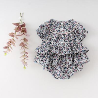Infant Child Jumpsuit Female Baby Cotton short-sleeved Khaki Climbing Suit