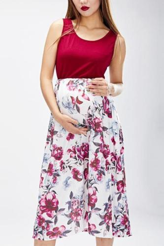 Mom Girl Botanical Prints Matching Dress
