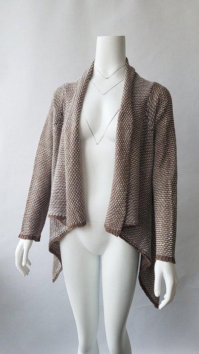 Medium Long Irregular Lapel Ladies Cardigan Sweater
