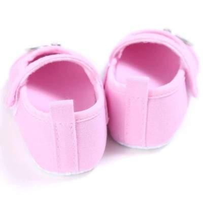 Baby Girls Sweet Pink Color Heart Pattern Princess Anti-slip Shoes