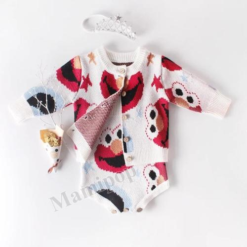 2020 Baby Boy 0-2 years Old Baby Suit Bird Coat+baby  Two-piece Thickening