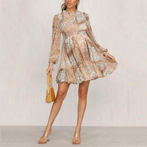 Maternity Print Long Sleeve Dress