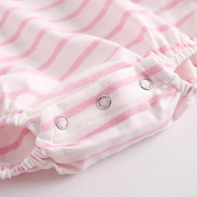 Autumn Baby Girl Striped Long Eared Hat Creeper