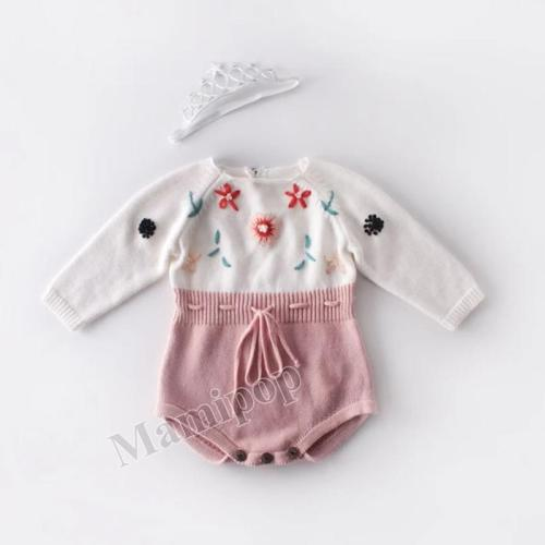 New Baby Hand-embroidered sweater knitted woollen cloth