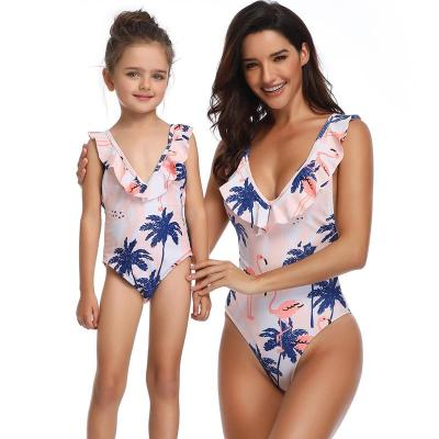 Matching Family Bathing Suits Mother Girl Beachwear