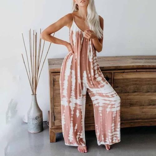Maternity Tie Dye Wide Leg Jumpsuit