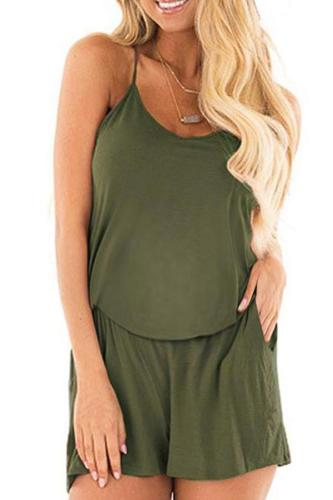 Maternity Casual Sling Backless Pure Color Jumpsuits