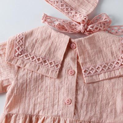 Spring and Autumn Baby Girl's  Clothes Inverted Triangle Long Sleeve Lace Side Cotton Hardcover