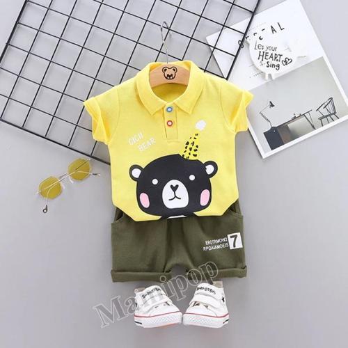 Boys' Suit Summer Children's Cartoon Cotton Two-piece Set