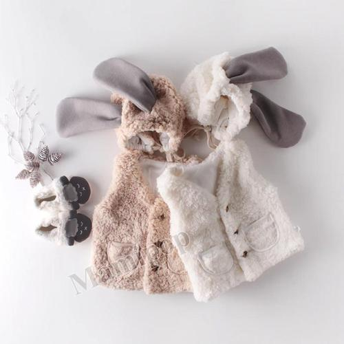 2020 Winter New Sweet Pure Color Warm Baby 0-2 Years Old Cardigan Lamb Velvet Armor Coat
