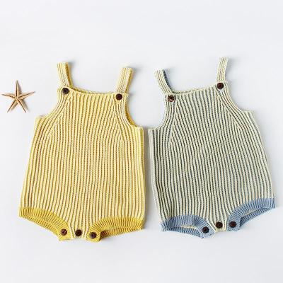 Spring and autumn Children's Shoulder Belt Baby Knitting Wool One-piece Clothes