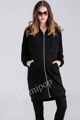 2020 Large Medium Length Plush Hooded Sweater Fashion Pregnant Women's Cartoon Coat