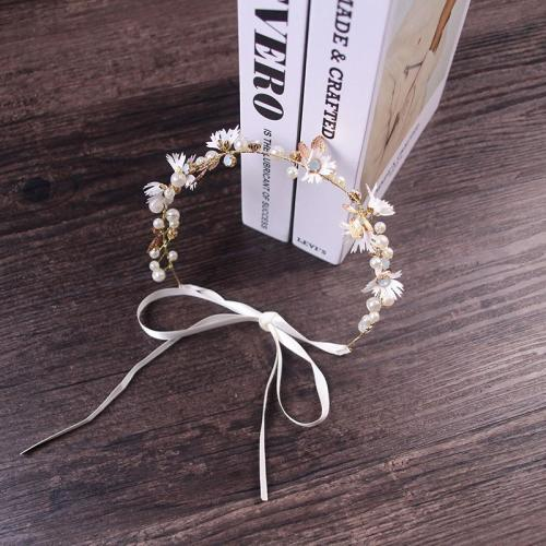 Simple Small Daisy Crystal Twisted Bead Hair Accessories Headwear