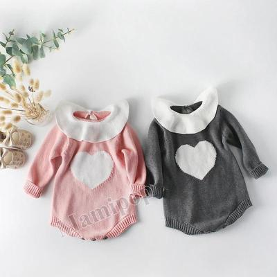 2020 New baby collar Love Pattern knitted Sweater
