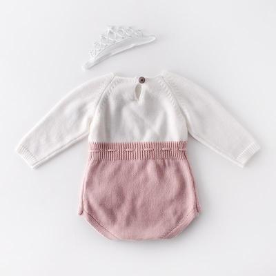 2020 New Baby Hand-embroidered Sweater Knitted Wool Jumpsuit