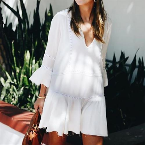 Maternity Fashion Solid Color Dress