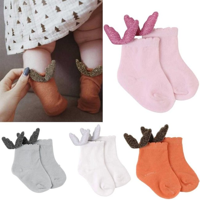 Baby Socks Air Conditioning Summer Cute Wing Cotton Baby Kids Girls Toddlers High Socks Newborn Princess Socks