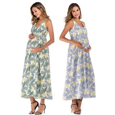Women's sling skirt belt waist sleeveless pregnant women's jumpsuit long skirt