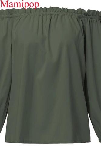 Women Blouses Shirts Pregnant Casual Slash Neck Long Sleeve Tops