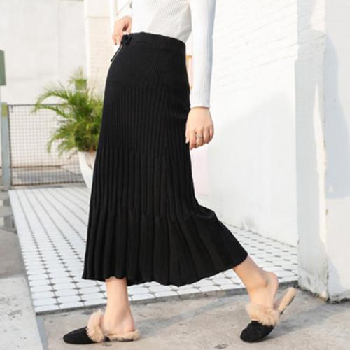 Maternity Loose Pleated A-line Knit Skirt