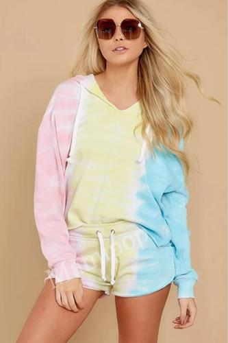 Autumn and Winter Women's Loose Fashion New Tie Dye Pullover Sweater