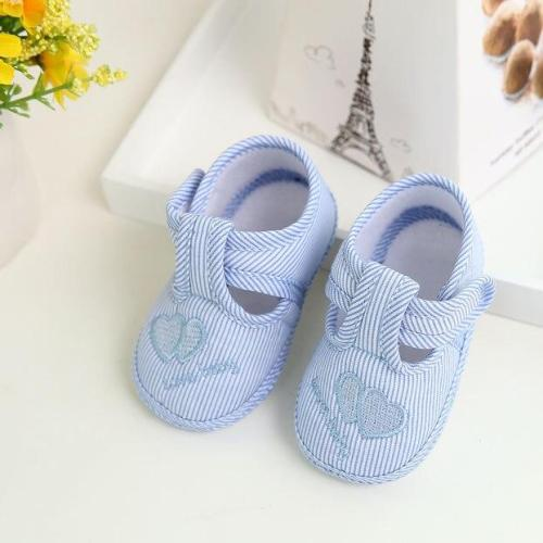Low Price 2020 Newborn Infant Baby Stripe Girls Soft Sole Prewalker Warm Casual Flats Shoes Toddler Shoes