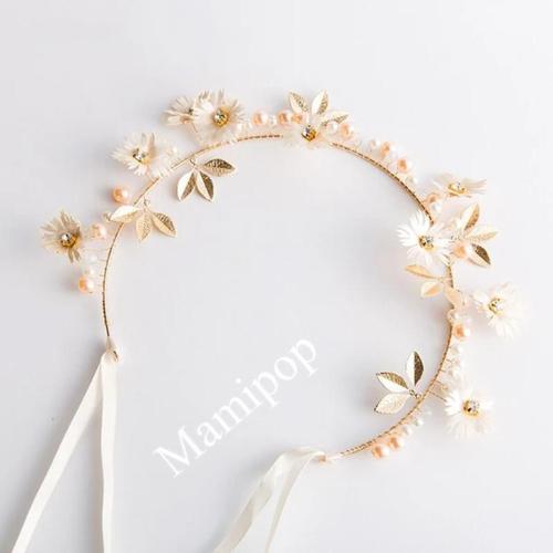 Daisy Crystal Headband Bridal Wedding Hair Ornaments
