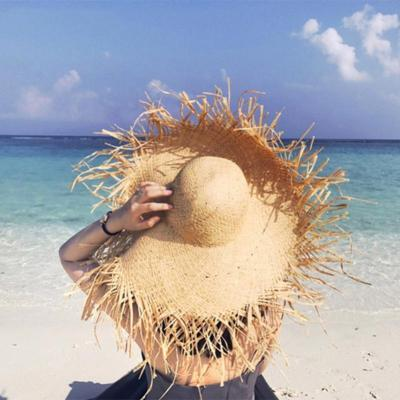 Summer Raw Edge Lafite Hat Sunscreen Visor