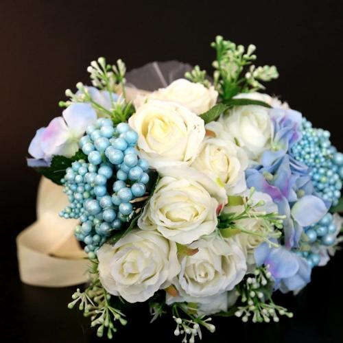 Wedding Bride Holding Flower Decoration