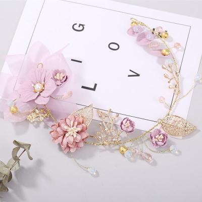 Purple Twig Flower Headdress Hair Accessory