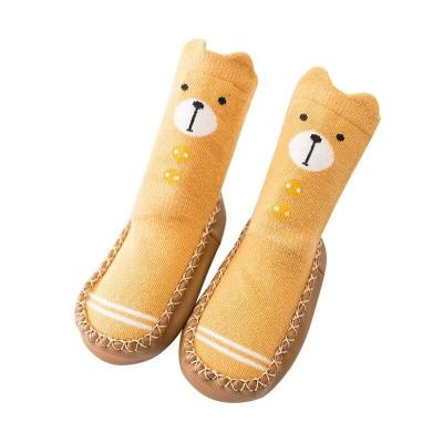 Cotton Warm Children Cocks New Winter Spring Autumn Cartoon Baby Socks Newborn Baby Anti Slip  Leather Sole Baby Floor Socks