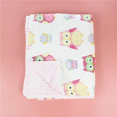 3D dot Baby Blanket Flannel Fleece Animal appease Blanket Infant Swaddle Nap Receiving Stroller Wrap Newborn Bedding Bath Towels