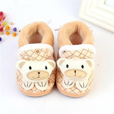 Winter Baby Snow Boots Toddler Shoes Baby Girl Shoes Knitted Cartoon Bear Infant Newborn Baby Shoes Footwear