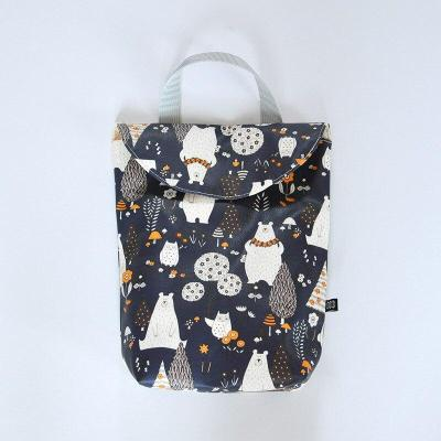 Wet bag  Multifunctional Baby Diaper Organizer Reusable Waterproof Fashion Prints Wet/Dry Bag Mummy Storage Bag Travel Nappy Bag