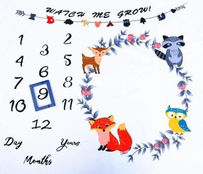 27 styles Baby Milestone Blanket Creative Cartoon Print Backdrop Cloth Photography Props Newborns Monthly Commemorative Gift