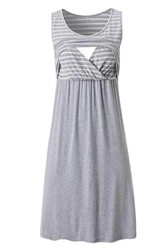 Women Pregnancy Dress Summer Maternity  Stripe Print Tunic Breastfeeding Summer  Maternity Dress