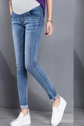 Fashion pregnancy pants Woman Ripped Jeans Maternity Pants Trousers Nursing Prop Belly Pants