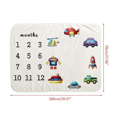 Baby Milestone Blankets Newborn Photography Background Prop  Infant bath towel Baby quilt wrapping cloth or Hundred days Blanket