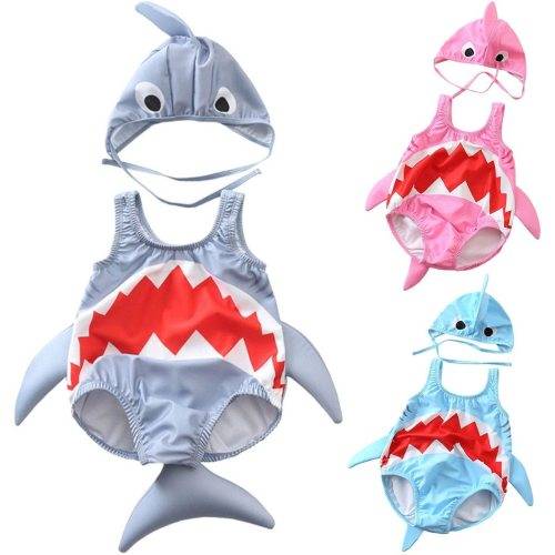 2020 Cute Toddler Kids baby swimwear Girls Boys Cartoon Swimsuit Bikini Swimwear Bathing Suit