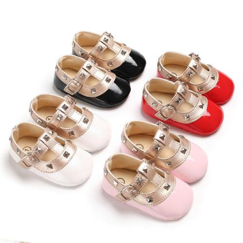 Puseky Newborn Baby Infant Princess Girl Bebe Soft Sole Non-slip Cribe Shoes Leather First Walker Footwear Moccasins Shoes