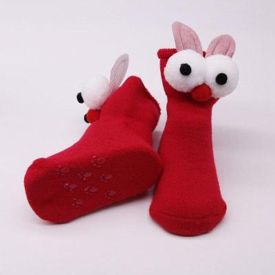 Warm Winter Fleece Baby Girls Socks Baby Socks Thickening Soft Cute Bunny