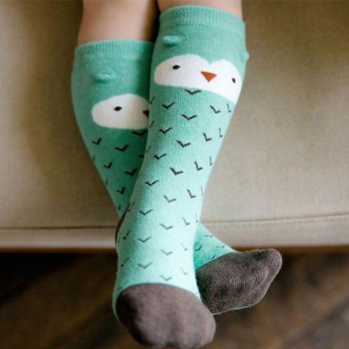 Kids Baby Boys Girls Knee High Stocking Cute Animal Pattern School Cotton Stockings Leg Warmers 0-3T