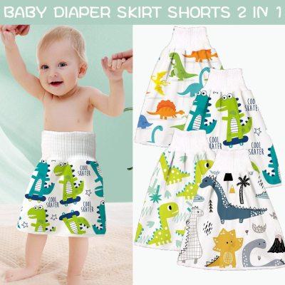 Diaper Skirt 2021 Comfy Reusable Baby Diaper Skirt Shorts 2 In 1 Boy's Girl's Training Skirt