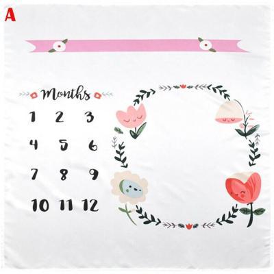 Baby Blanket Milestone Photography Newborn Baby Blanket Monthly Flowers Numbers Photo Prop