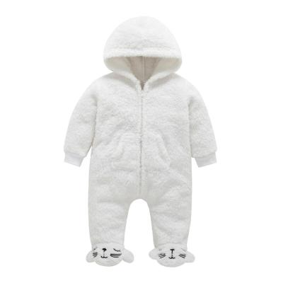 For Newborns Clothes Romper Baby Boy Girl Hooded Cartoon Flannel Rompers Warm Clothes Cotton Infant Jumpsuit