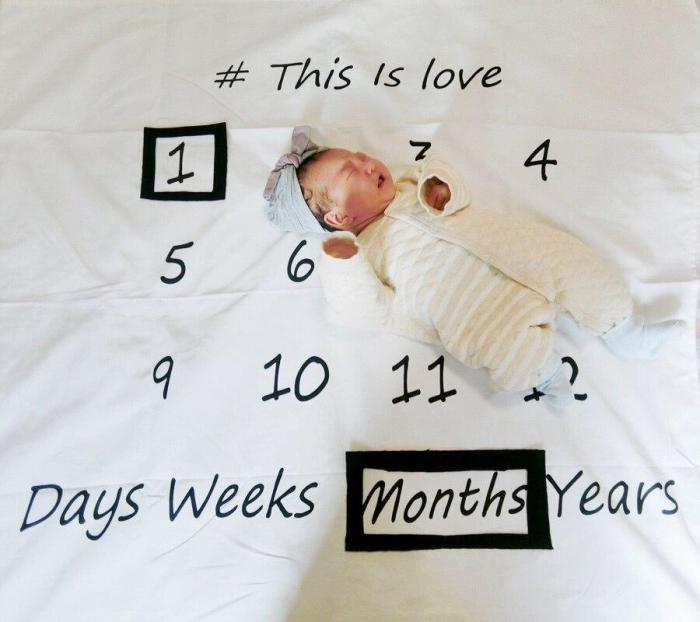 Baby Milestone Swaddle Stroller Bedding Wrap Background Cloth Photography Props
