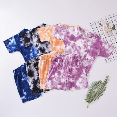 Toddler Baby Kids Girls Boys Tie-dye Set T-shirt Tops Pants Casual Outfits Boutique Kids Clothing