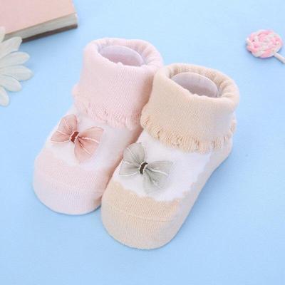 2pcs/set Baby socks rubber anti slip floor cartoon kids Toddlers autumn spring Fashion Animal newborn Cute 0-6-12month